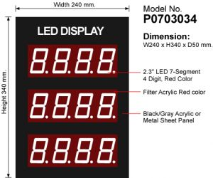 "LED Display Module 2.3"", 4Digit, 3Row - P0703034"